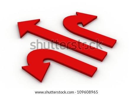 3d arrows - stock photo