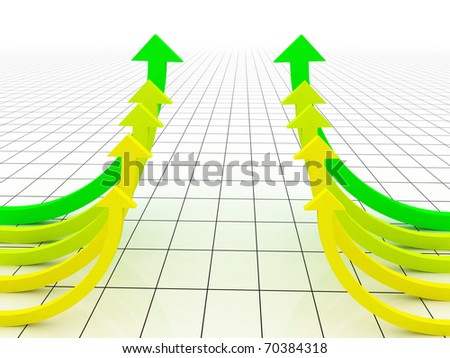 3d arrows - stock photo