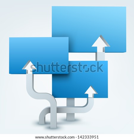 3d arrows with blanks - stock photo