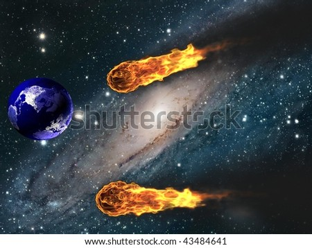 3d Asteroid - stock photo