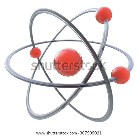 3d atom symbol  - stock photo