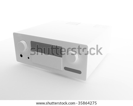 3d audio system over white background