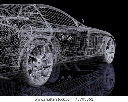 3d automobile - stock photo