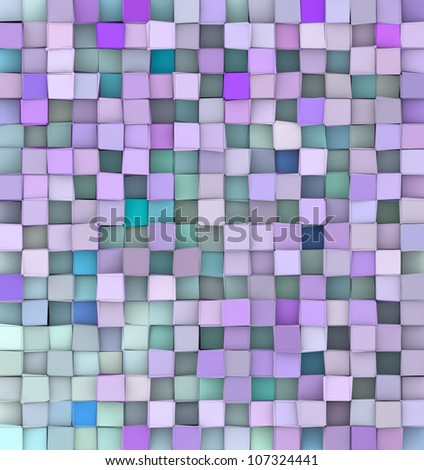 3d backdrop in different shades blue purple - stock photo