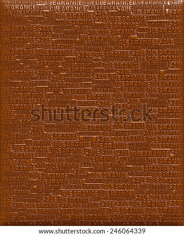 3D background of Clearance Sale in chocolate - stock photo