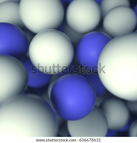 3d background with balls of different sizes
