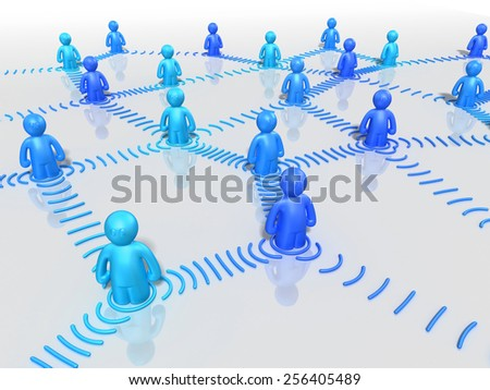 3d background with social or business network - stock photo