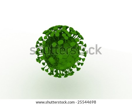 3d bacterium - stock photo