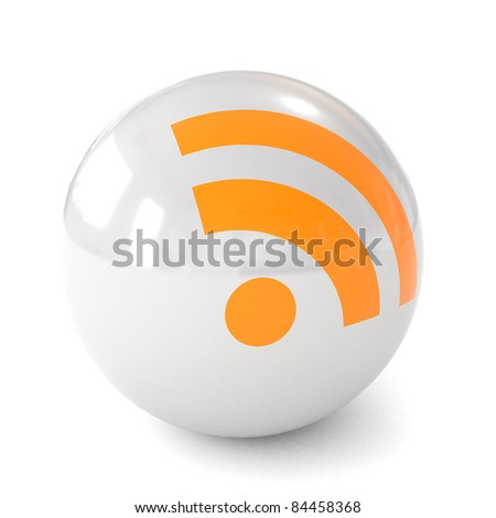 3d ball icon RSS - stock photo