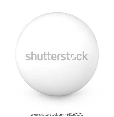 3d Ball Isolated on White Background - 3d illustration - stock photo