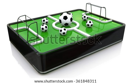 3d ball on the football field in the design of information related to sports