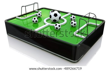 3d ball on the football field in the design of information related to sports. 3d illustration
