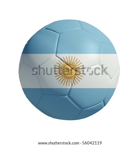 3D ball with Argentina flag