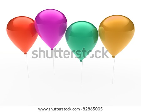 3d, ballon, balloon, party, birthday, colorful, color