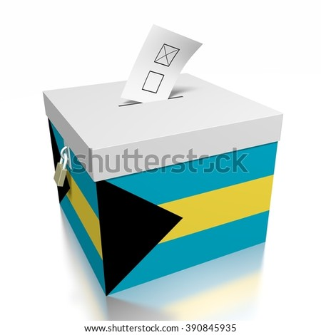3D ballot box - great for topics like presidential/ parliamentary election on Bahamas.