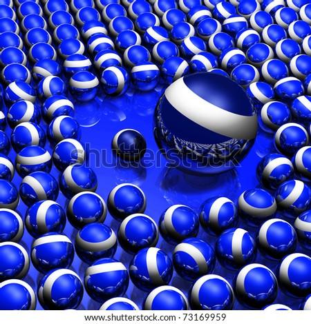 3D balls - stock photo