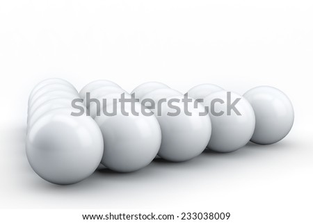 3d balls set on a white background