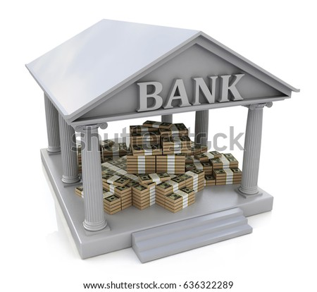 Bank building stock images royalty free images vectors for Free money to build a house