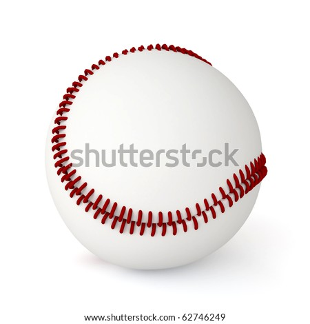 3d baseball ball isolated on white background