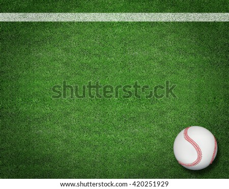 3d Baseball on the Field