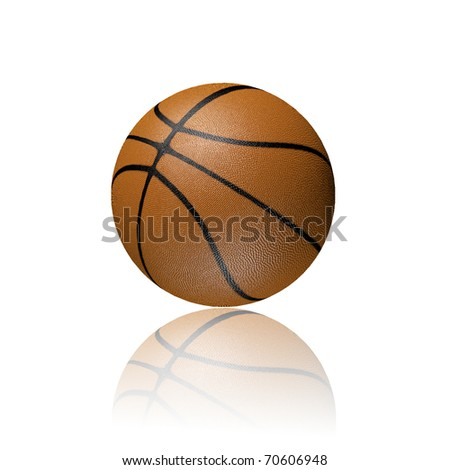 3D basketball - stock photo