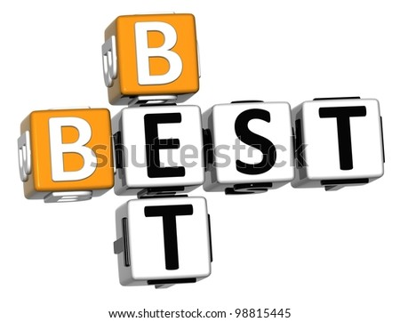 3D Best Bet Crossword on white background - stock photo