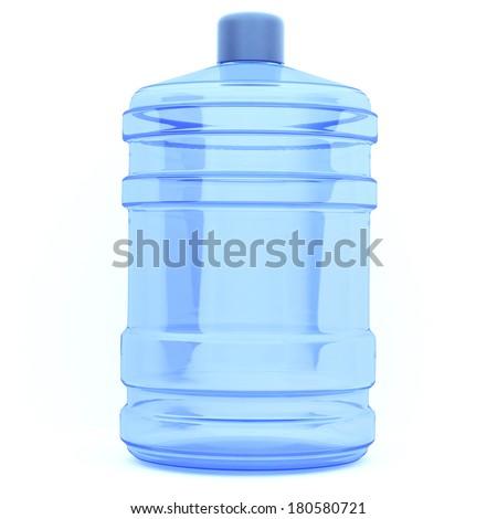 3d big bottle of water - stock photo
