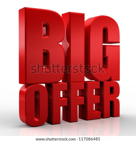 3D big offer - stock photo