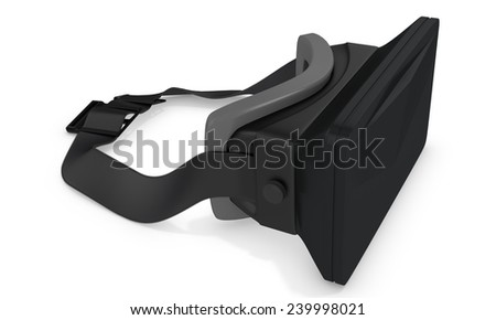 3d big reality goggles on white background  - stock photo