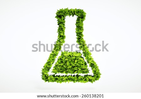 3d bio science sign. One of larger set of high quality ecology symbols. Check my ecology set. - stock photo