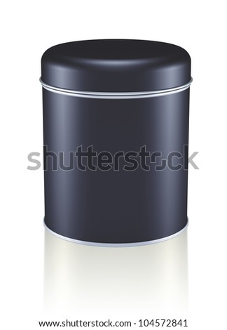 3D black silver Tin Can design product package