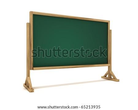3D blackboard - stock photo
