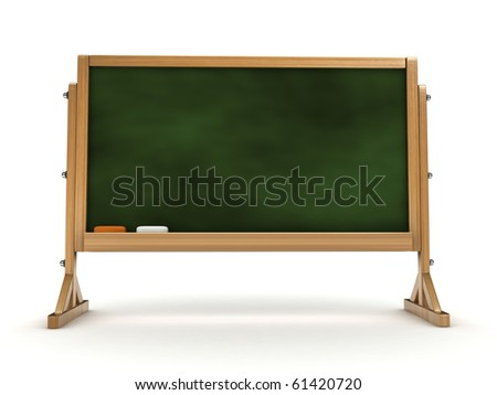 3d blackboard isolated - stock photo