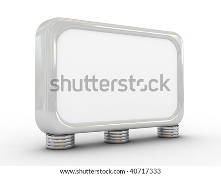 3D Blank big billboard,isolated,put your own text here - stock photo