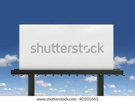 3D Blank big billboard,put your own text here