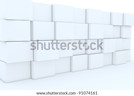 3D blank box for backgrounds.