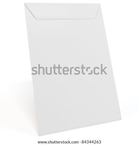 3d blank envelope on white background - stock photo