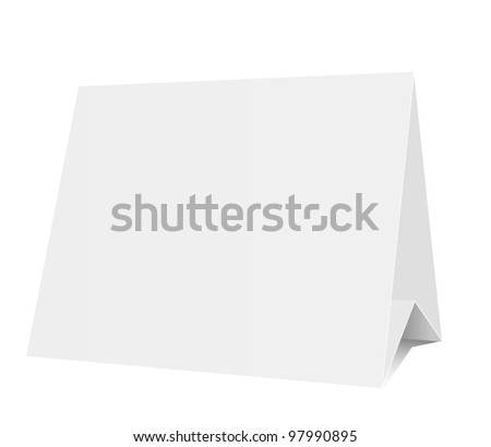 3d blank isolated on white