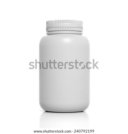 3D blank product bottle mockup isolated on white