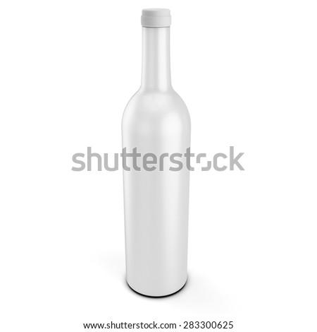 3d blank product bottle mockup on white background - stock photo