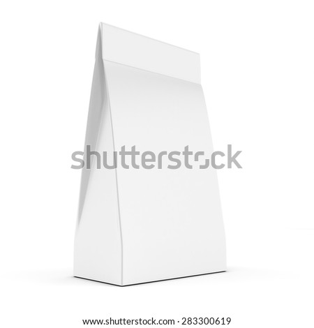 3d blank  product package on white background - stock photo