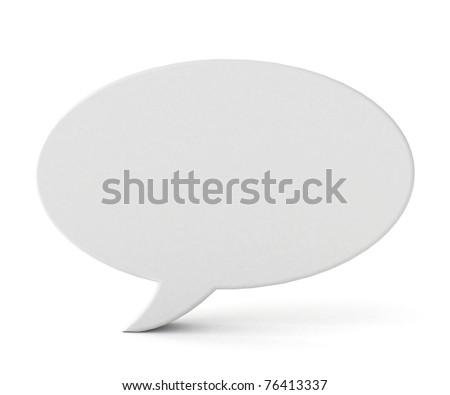 3d blank speech bubble - stock photo
