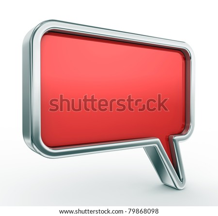 3d blank speech bubble - stock photo