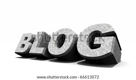3d blog - stock photo