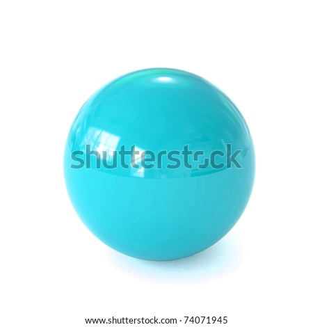3d blue ball - stock photo