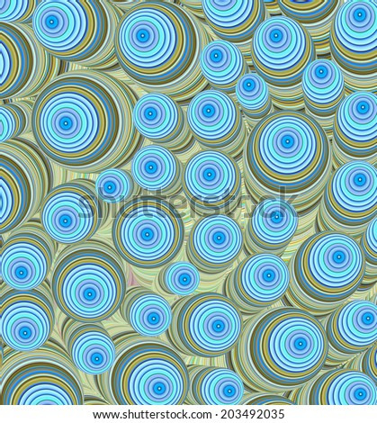 3d blue yellow curly worm shape backdrop - stock photo