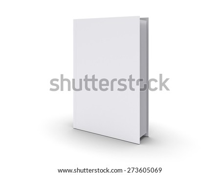 3D. Book, Book Cover, Blank. - stock photo