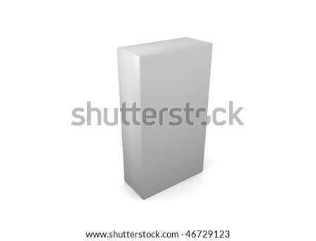 3d box, isolated on a white