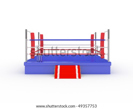 3d boxing ring - 3d illustration - stock photo