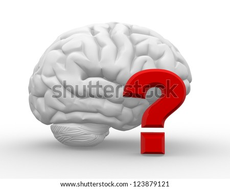 3d brain and a sign check. Approved. 3d render - stock photo